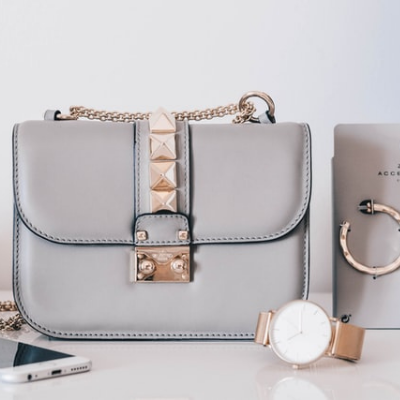 Grey leather crosbody bag. Leather is a big part of ethical fashion.